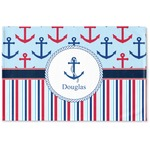 Anchors & Stripes Woven Mat (Personalized)