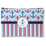 Anchors & Stripes Zipper Pouch (Personalized)