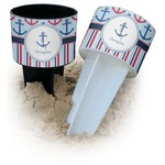 Anchors & Stripes Beach Spiker Drink Holder (Personalized)