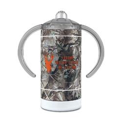 Hunting Camo 12 oz Stainless Steel Sippy Cup (Personalized)