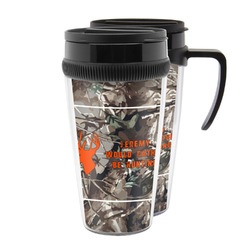Hunting Camo Acrylic Travel Mugs (Personalized)