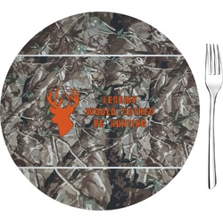 """Hunting Camo 8"""" Glass Appetizer / Dessert Plates - Single or Set (Personalized)"""