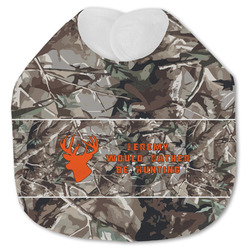 Hunting Camo Jersey Knit Baby Bib w/ Name or Text