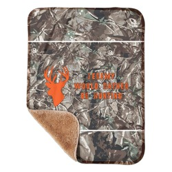 "Hunting Camo Sherpa Baby Blanket 30"" x 40"" (Personalized)"