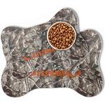 Hunting Camo Bone Shaped Dog Food Mat (Personalized)