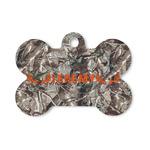 Hunting Camo Bone Shaped Dog ID Tag (Personalized)