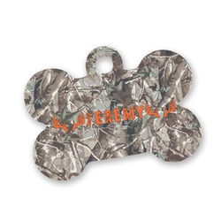 Hunting Camo Bone Shaped Dog Tag (Personalized)