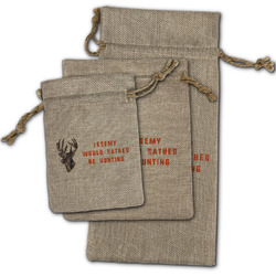 Hunting Camo Burlap Gift Bags (Personalized)