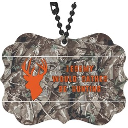 Hunting Camo Rear View Mirror Decor (Personalized)