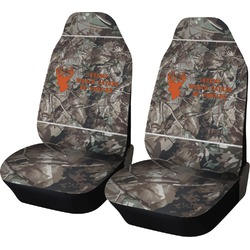 Hunting Camo Car Seat Covers (Set of Two) (Personalized)