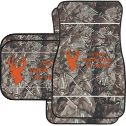 Hunting Camo Car Floor Mats Set - 2 Front & 2 Back (Personalized)