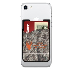 Hunting Camo 2-in-1 Cell Phone Credit Card Holder & Screen Cleaner (Personalized)