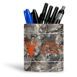Hunting Camo Ceramic Pen Holder