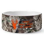 Hunting Camo Ceramic Dog Bowl (Personalized)