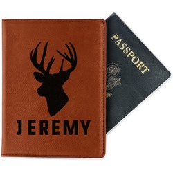 Hunting Camo Leatherette Passport Holder (Personalized)