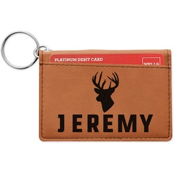 Hunting Camo Leatherette Keychain ID Holder (Personalized)