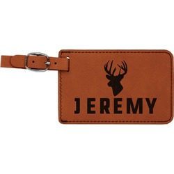 Hunting Camo Leatherette Luggage Tag (Personalized)
