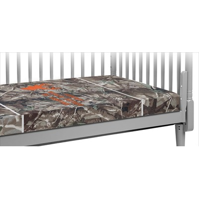 Hunting Camo Crib Fitted Sheet (Personalized)