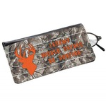 Hunting Camo Genuine Leather Eyeglass Case (Personalized)