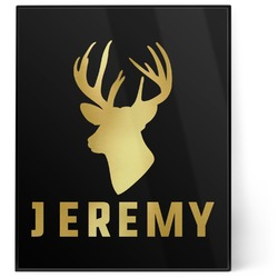 Hunting Camo 8x10 Foil Wall Art - Black (Personalized)