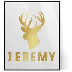 Hunting Camo 8x10 Foil Wall Art - White (Personalized)