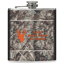 Hunting Camo Genuine Leather Flask (Personalized)