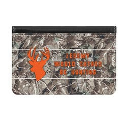 Hunting Camo Genuine Leather ID & Card Wallet - Slim Style (Personalized)