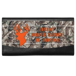 Hunting Camo Genuine Leather Ladies Wallet (Personalized)