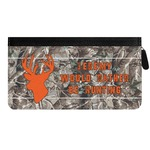Hunting Camo Genuine Leather Ladies Zippered Wallet (Personalized)