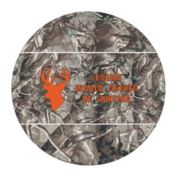 Hunting Camo Round Desk Weight - Genuine Leather  (Personalized)
