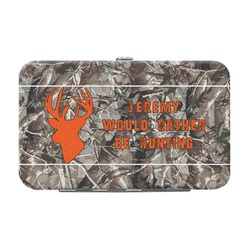 Hunting Camo Genuine Leather Small Framed Wallet (Personalized)