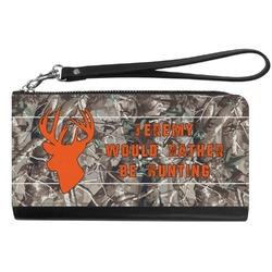 Hunting Camo Genuine Leather Smartphone Wrist Wallet (Personalized)