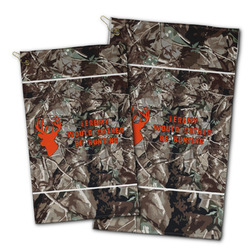 Hunting Camo Golf Towel - Full Print w/ Name or Text