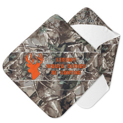 Hunting Camo Hooded Baby Towel (Personalized)