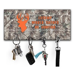 Hunting Camo Key Hanger w/ 4 Hooks w/ Graphics and Text