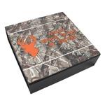 Hunting Camo Leatherette Keepsake Box - 3 Sizes (Personalized)