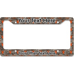 Hunting Camo License Plate Frame (Personalized)