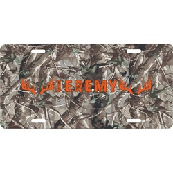 Hunting Camo Front License Plate (Personalized)
