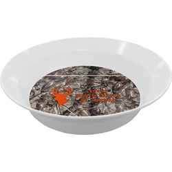 Hunting Camo Melamine Bowl - 12 oz (Personalized)