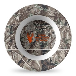 Hunting Camo Plastic Bowl - Microwave Safe - Composite Polymer (Personalized)