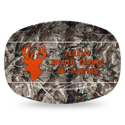 Hunting Camo Plastic Platter - Microwave & Oven Safe Composite Polymer (Personalized)