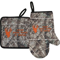 Hunting Camo Oven Mitt & Pot Holder (Personalized)