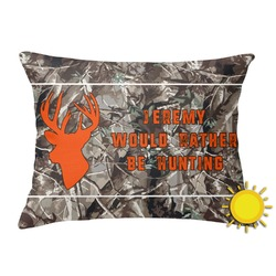 Hunting Camo Outdoor Throw Pillow (Rectangular) (Personalized)