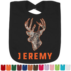 Hunting Camo Baby Bib - 14 Bib Colors (Personalized)