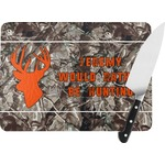 Hunting Camo Rectangular Glass Cutting Board (Personalized)