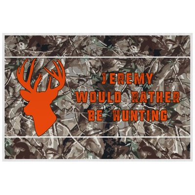 Hunting Camo Laminated Placemat w/ Name or Text