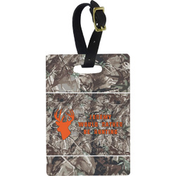 Hunting Camo Plastic Luggage Tag - Rectangular w/ Name or Text