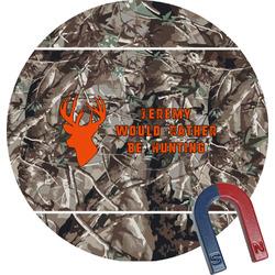 Hunting Camo Round Fridge Magnet (Personalized)