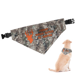 Hunting Camo Dog Bandana (Personalized)