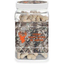 Hunting Camo Dog Treat Jar (Personalized)